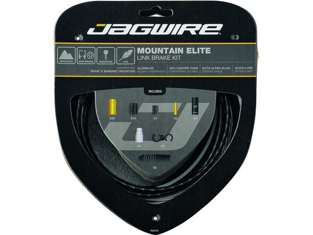 Jagwire Mountain Elite Link Kit de câbles de frein, black
